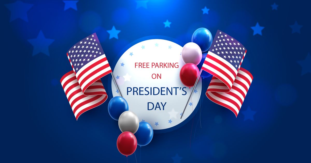 Free parking in celebration of the Presidents' Day
